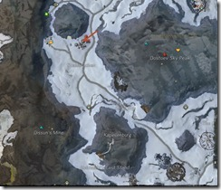 GW2 Dredgehaunt Cliffs Map, Tasks, Vistas, POIs, and Skill Points