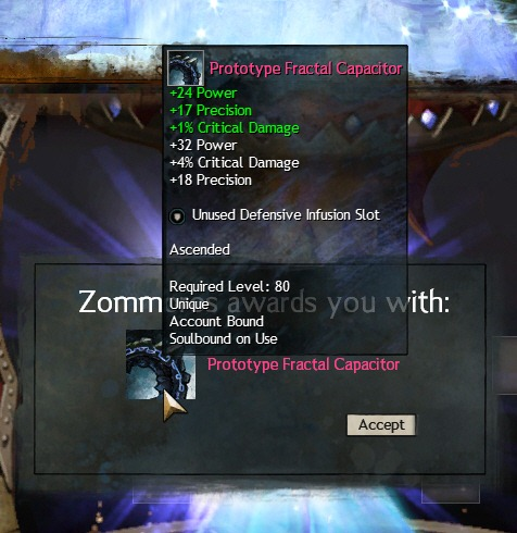 Unused offensive infusion slot gw2