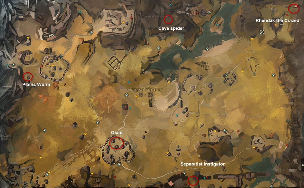 Champion Farming Maps   Contemporary Heroes of Tyria