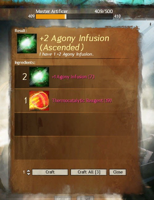 Unused utility infusion slot gw2