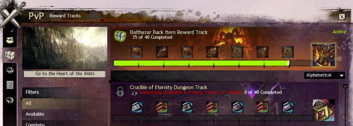 GW2 PvP Rewards Revamp and Reward Tracks