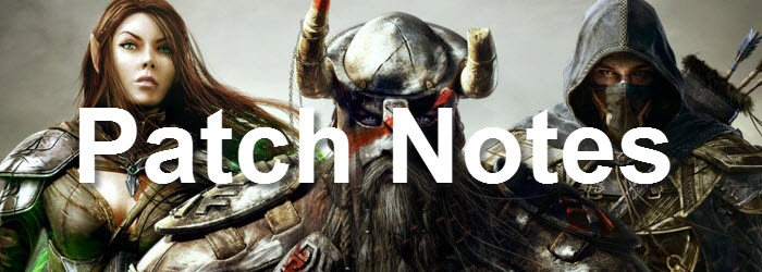 ESO V1.0.8 Patch notes
