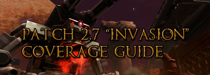 SWTOR Patch 2.7 Coverage guide