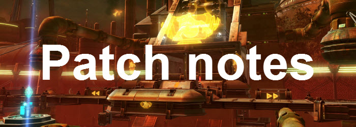 SWTOR Game Update 2.7 Patch notes