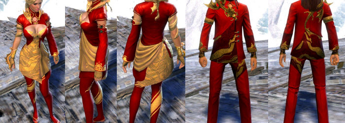GW2 Ancestral Outfit and Mini Jaguar in Gemstore