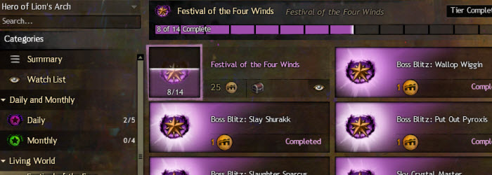 GW2 Festival of the Four Winds achievement guide
