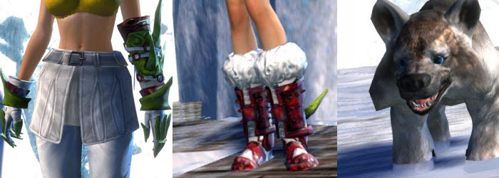 GW2 Gemstore Lawless Gloves Boots and Mini Arctodus