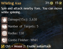 whirling axe