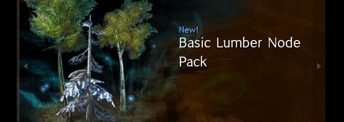 GW2 Basic Lumber Node Pack in Gemstore