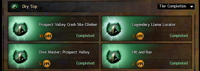 GW2 Dry Top Achievements Guide