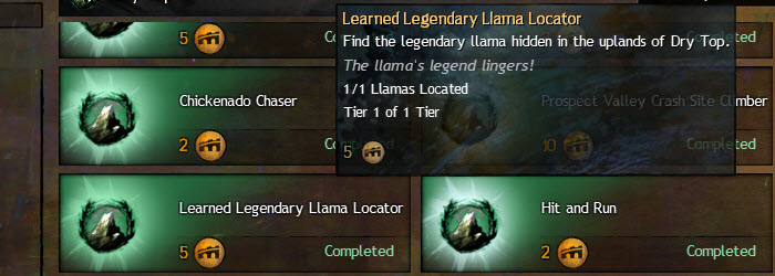 GW2 Learned Legendary Llama Locator Achievement Guide