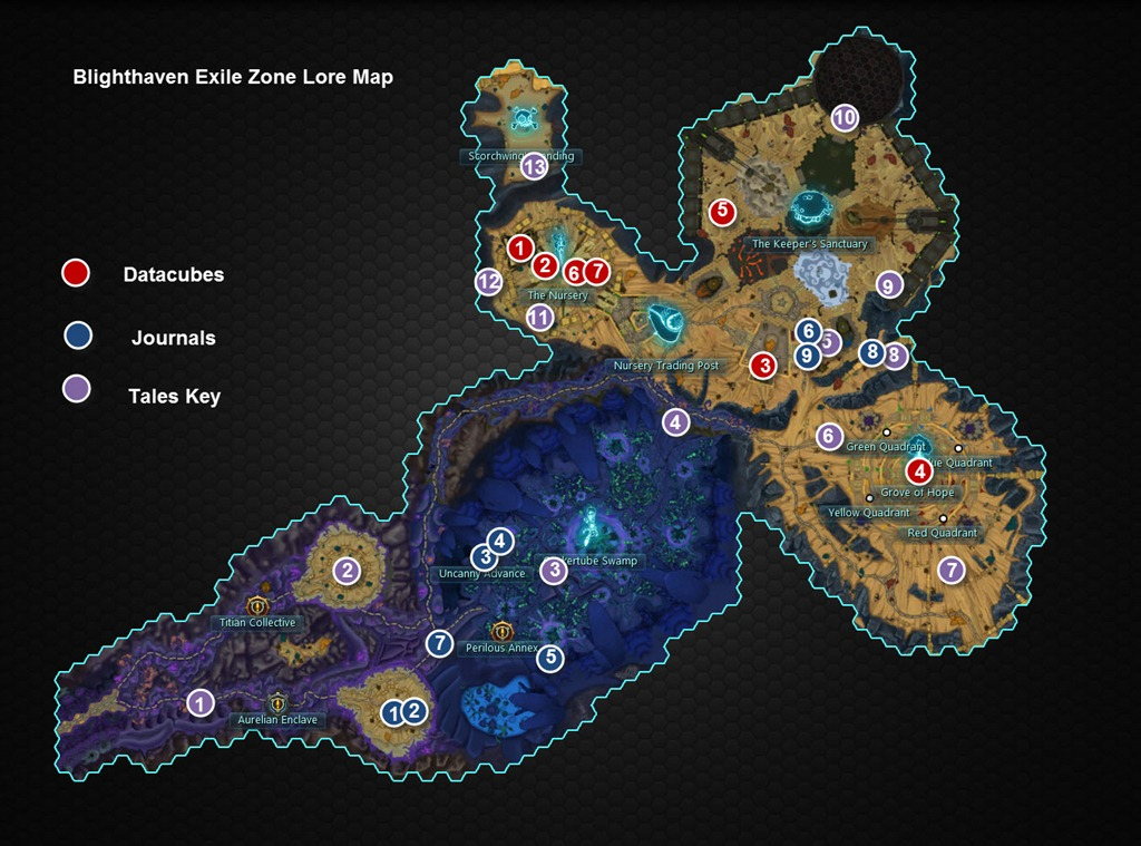 wildstar blighthaven exile zone lore guide dulfy