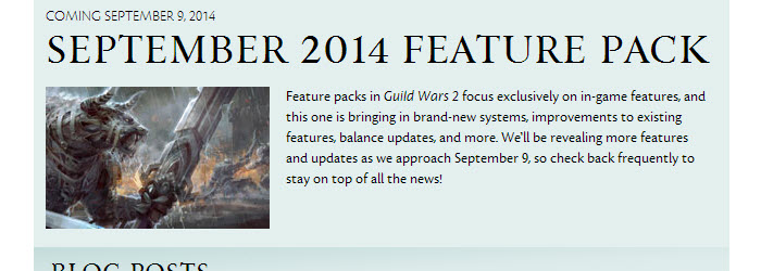 GW2 Announcing the September 2014 Feature Pack