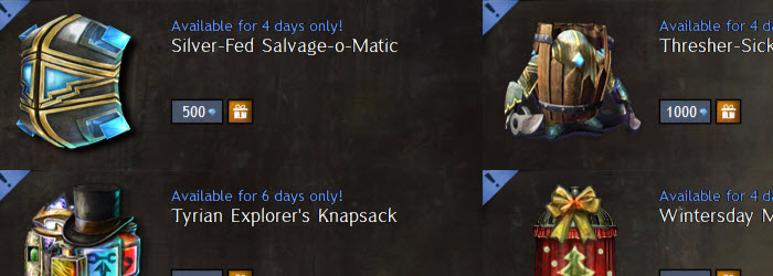 GW2 Silver-fed Salvage-O-Matic now in Gemstore