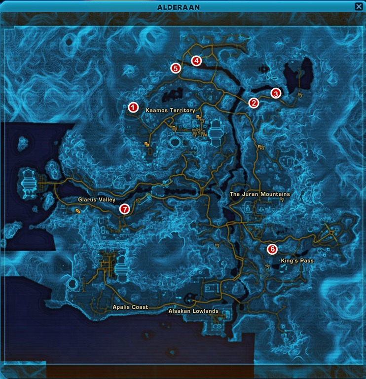 SWTOR Heroic Missions for Datacron Decoration farming - Dulfy