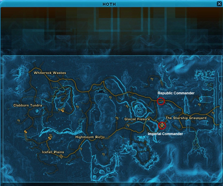 swtor conquest commanders locations guide dulfy, wiring, icefall plains location world map hoth