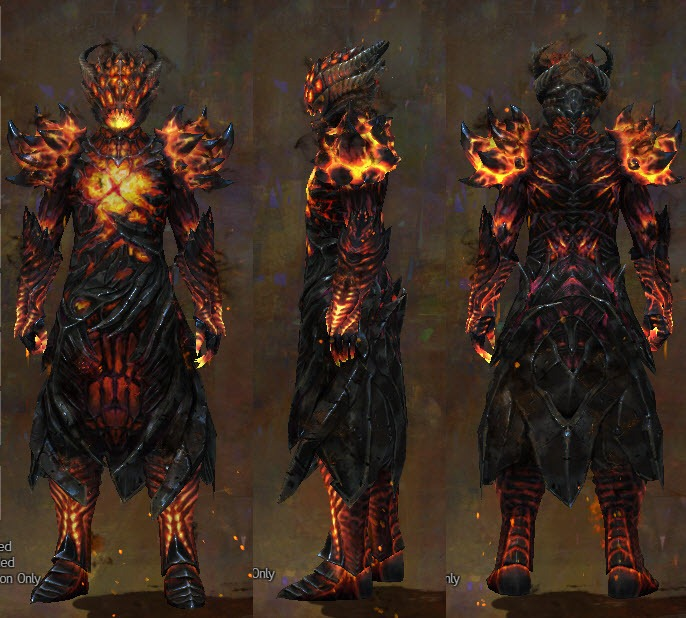 GW2 Radiant and Hellfire Chests and Legs - Dulfy