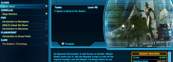 SWTOR Preordering SOR allow you to level up via just class missions