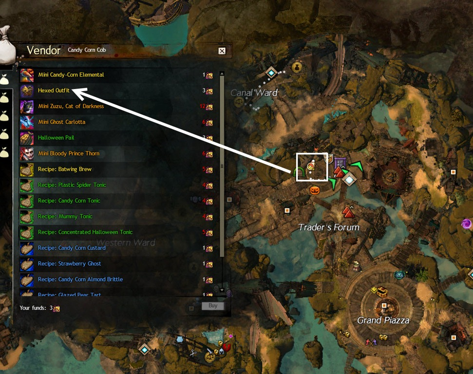 how to get candy corn cobs gw2