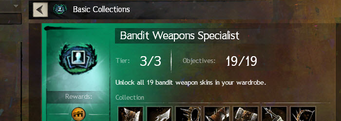 GW2 Bandit Weapons Specialist Collections Guide