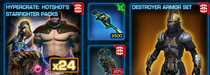 SWTOR Cartel Market Sales Nov 18–25–More Czerka Weapons