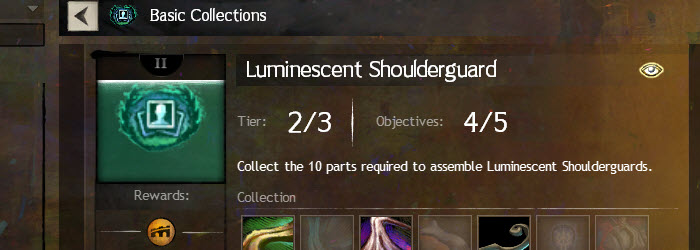 GW2 Luminescent Shoulderguard Collections Guide