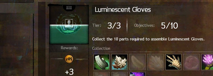 GW2 Luminescent Gloves Collections Guide