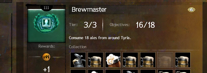 GW2 Fine Wining and Brewmaster Collections Guide