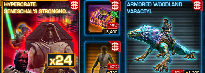 SWTOR Cartel Market Weekly Sales for Jan 27-Feb 3