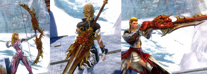 GW2 Crimson Lion Weapon Skins Gallery