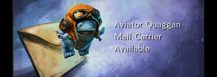 GW2 Mad Scientist Harvest Tool and Aviator Quaggan Mail Carrier in Gemstore