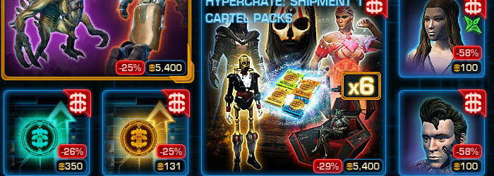 SWTOR CM weekly sales for Mar 31 – April 7