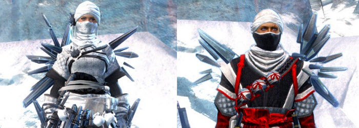 GW2 Crystal Nomad Outfit now available in gemstore