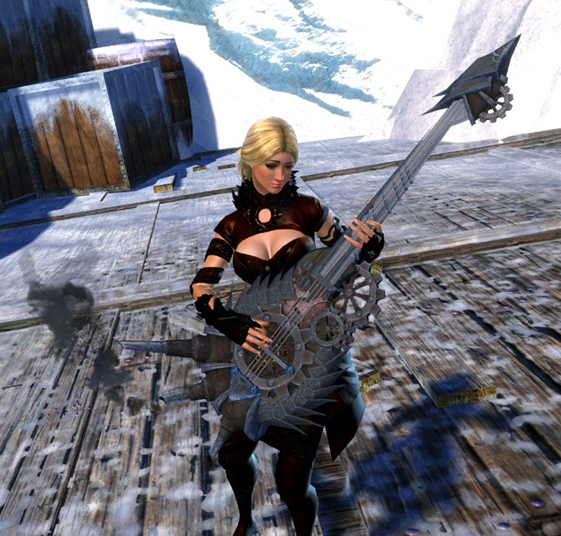 GW2 Musical Bass Guitar Now Available In Gemstore