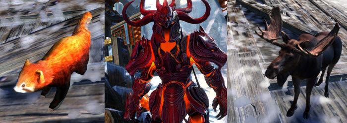 GW2 Gemstore Update–Balthazar's Outfit, Mini Red Panda and Moose