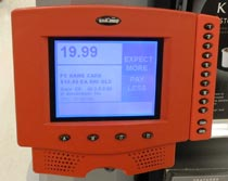 Price scanner at Target with keypad on the right