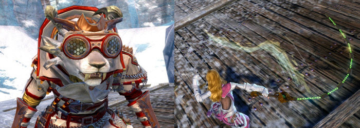 GW2 Chain Whip Sword and Mad Scientist Outfit now available