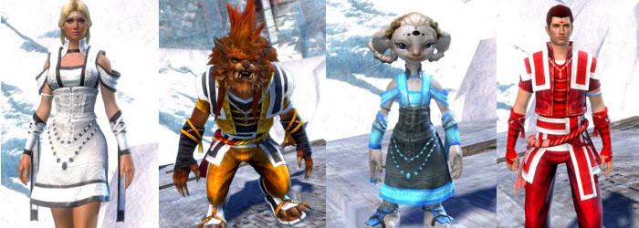 GW2 Monk's Outfit and Lion's Arch Rebuild Dyes in Gemstore