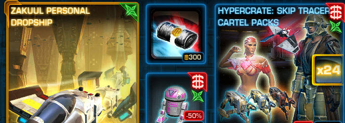 SWTOR CM Weekly Sales Aug 25 – Sep 1