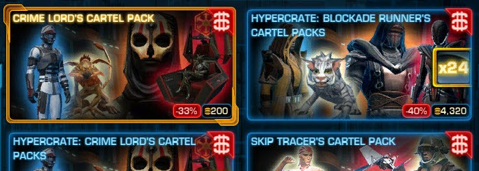 SWTOR All Cartel Market Packs 33-40% OFF
