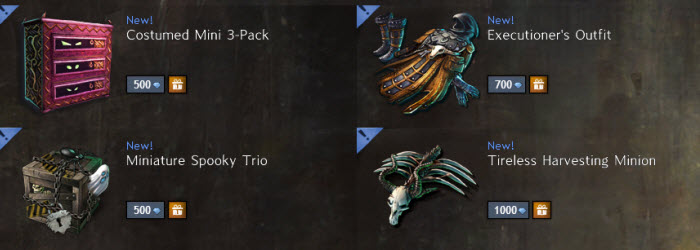 GW2 Gemstore Update–More Returning Halloween Items