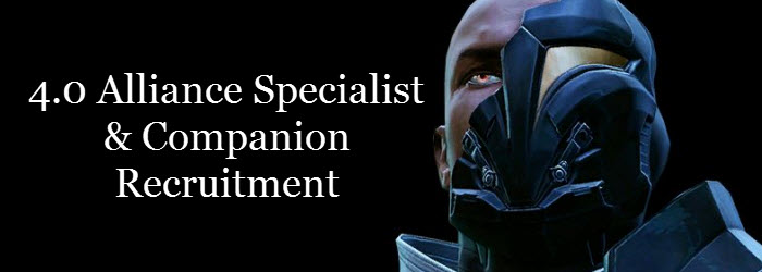 SWTOR Alliance Specialists and Companion Recruitment Guide