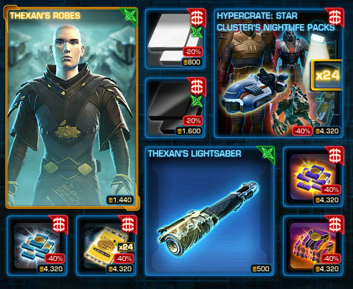 SWTOR CM Weekly Sales Oct 13-20 - Dulfy