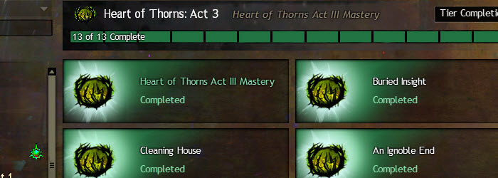 GW2 Heart of Thorns Act 3 Story Achievements Guide