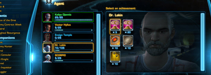 SWTOR Hidden Companion Achievements Guide