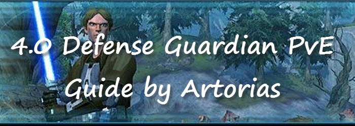 SWTOR 4.0 Defense Guardian PvE Guide by Artorias