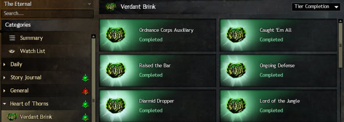 GW2 Verdant Brink Achievement Guide