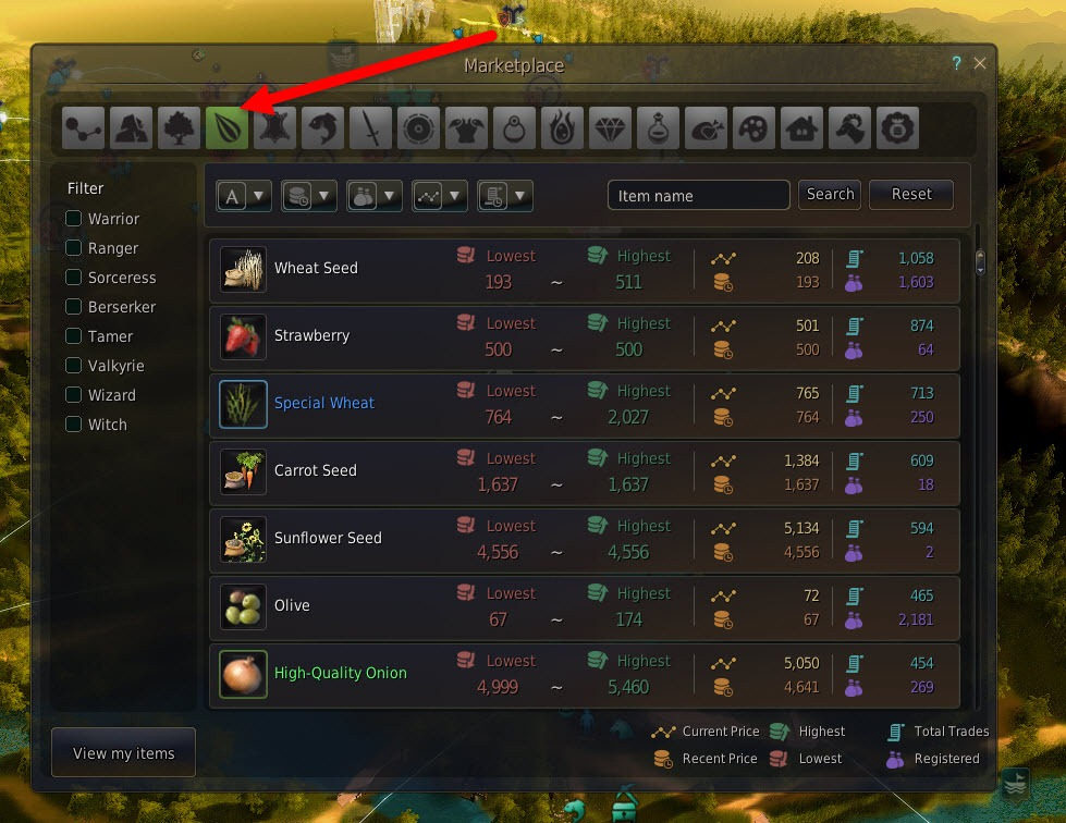 bdo how to buy from marketplace