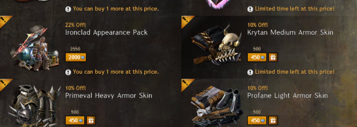 GW2 April 28 Gemstore Sales