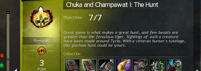 GW2 Chuka and Champawat I The Hunt Collection Guide